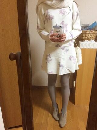 Yoshie Fujiuさんの「【DUO】 単色FlowerドルマンKT(MERCURYDUO|マーキュリーデュオ)」を使ったコーディネート