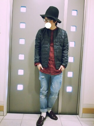 「【BACK NUMBER】【WEB限定】リバーシブルインナーダウン(Right-on)」 using this kaki looks