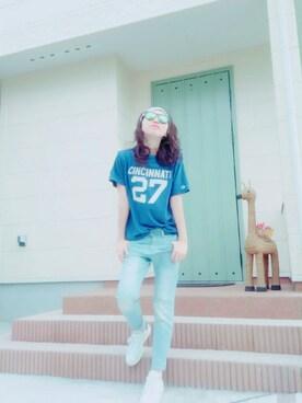 hamu123さんの「RAY-BAN Sunglasses(Ray-Ban|レイバン)」を使ったコーディネート