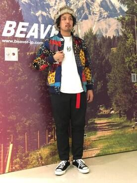 BEAVER大阪店|Funa☆changさんの「BOHEMIANS/ボヘミアンズ  SMALL FORTUNE pt. 8SLV SWEAT (4)(BOHEMIANS)」を使ったコーディネート