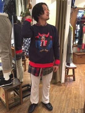 BEAVER渋谷店 Funa☆changさんの(Needles Sportswear ニードルス スポーツウェア)を使ったコーディネート