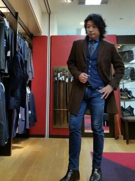 メンズビギ 甲府山交百貨店|nishiさんの(MEN'S BIGI|メンズビギ)を使ったコーディネート