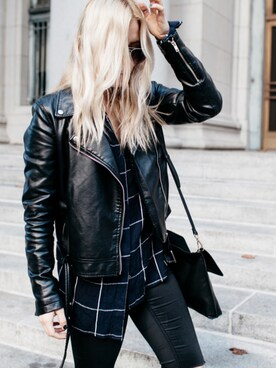 「FOREVER 21 Faux Leather Moto Jacket(FOREVER 21)」 using this Styleinfurno looks