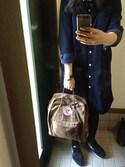 「Sand Kanken Classic Backpack(Fjallraven Kanken)」 using this naan looks