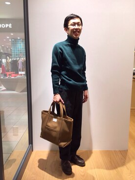 Bshop 札幌ステラプレイス店|naoyakatoさんの「【Morris & Sons】ジーロンラムタートルネックセーター MEN(Morris & Sons)」を使ったコーディネート