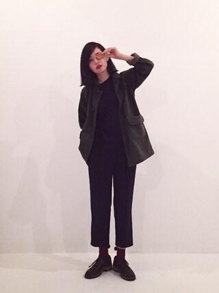 青柳 文子さんの「Laura Mercier Invisible Loose Setting Powder, 0.4 oz(Laura Mercier|ローラメルシエ)」を使ったコーディネート