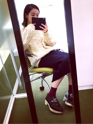青柳 文子さんの「TOGA PULLA キルト木靴(TOGA PULLA|トーガ プルラ)」を使ったコーディネート