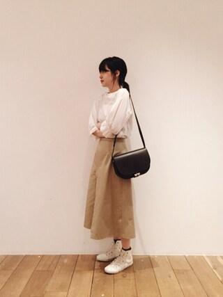 青柳文子さんの「wrapping chino pants(No6|ナンバーシックス)」を使ったコーディネート