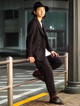 LOVE by KATHARINE HAMNETT マルイシティ渋谷|カヤマユウタ▼▲▼▲さんの「CANVAS WOOL W JACKET / キャンバスウールWジャケット(KATHARINE HAMNETT LONDON)」を使ったコーディネート