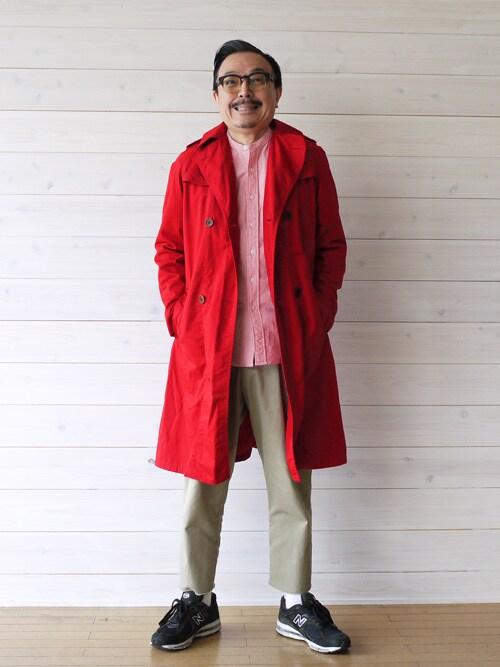 Louis | Motoshi Tozawaさんのトレンチコート「NAISSANCE TRENCH COAT」を使ったコーディネート