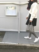 misaさんの「ストレッチフレアスカート(LE CIEL BLEU|ルシェルブルー)」を使ったコーディネート