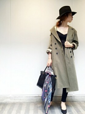 FRAMeWORK 名古屋店 eripoyoさんの「トレンチコート◆(FRAMeWORK)」を使ったコーディネート