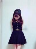 「FOREVER 21 Classic Skater Skirt(Forever 21)」 using this maimai looks