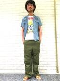 K.ODAさんの「HAYN×HYSTERIC/LIVE MUSIC ビーチサンダル(HYSTERIC GLAMOUR|ヒステリックグラマー)」を使ったコーディネート