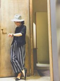 (株)midoriさんの「マルチストライプガウチョパンツ(CIAOPANIC TYPY|チャオパニックティピー)」を使ったコーディネート
