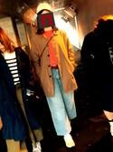 nanokoさんの「□Nor'Easterly / シェトランド シャギー クルー(BEAMS BOY|ビームスボーイ)」を使ったコーディネート