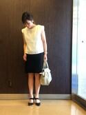 ma-.Oさんの「2wayストレッチタイトスカート(COMME CA ISM|コムサイズム)」を使ったコーディネート