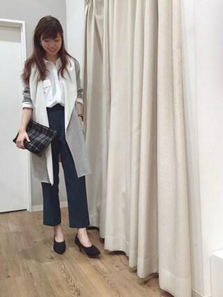 INTERPLANET WINGS 浜松市野店|ゆきえさんの「9分丈フラップポケットシャツ(INTERPLANET|インタープラネット)」を使ったコーディネート