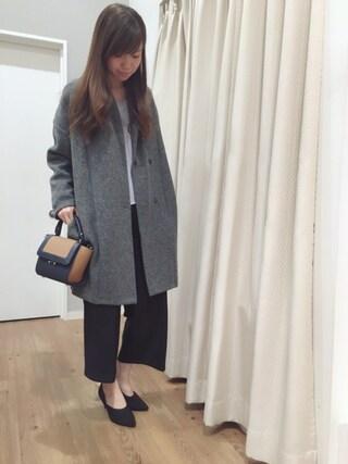 INTERPLANET WINGS 浜松市野店|ゆきえさんの「スライバーニットコート(actuel|アクチュエル)」を使ったコーディネート