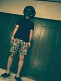sho.さんの「【WEB限定】ソリッドカラー刺繍ポロシャツ S/S(nano・universe|ナノユニバース)」を使ったコーディネート