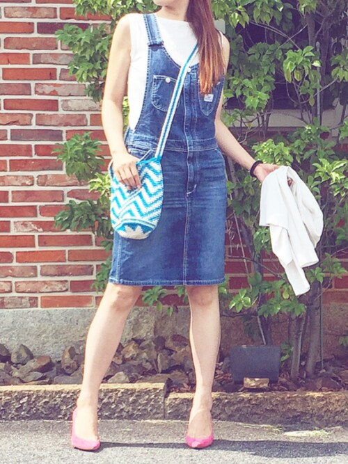 aimee♡エイミーさんの「Lee × RCS デニム サロペット スカート(Rodeo Crowns)」を使ったコーディネート