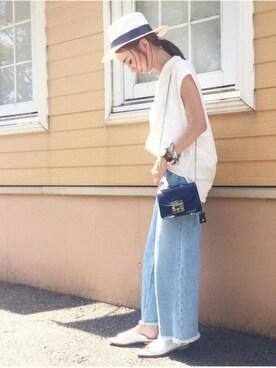 mao♡さんの「タイプライターVNシャツFS 718419(apart by lowrys|アパートバイローリーズ)」を使ったコーディネート