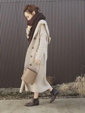 mao♡さんの「「BONTRE/ボントレ」ソフトポインテッドサイドゴアブーツ/53179-61(BONTRE|ボントレ)」を使ったコーディネート