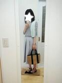 yuさんの「Pスカートフウカサネガウチョパンツ 714561(apart by lowrys|アパートバイローリーズ)」を使ったコーディネート