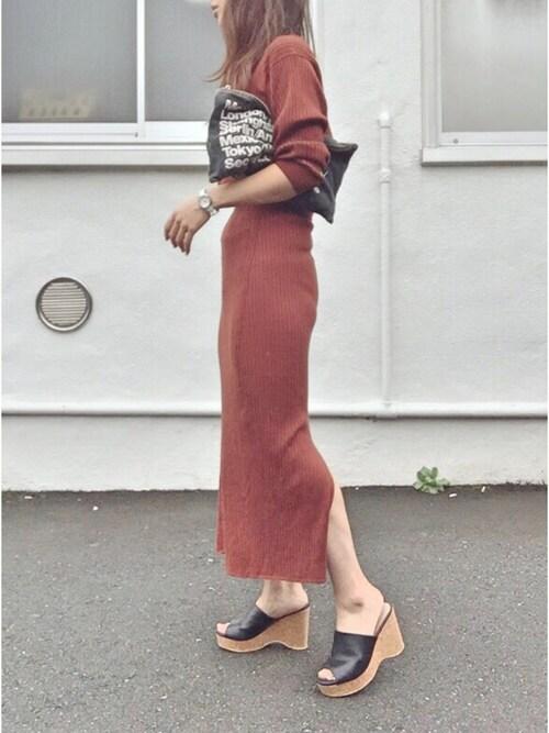 ユニクロのタイトスカートが人気♪インスタ投稿する人が続出中です!