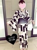 Ayameさんの「黒豆きなこ浴衣(E hyphen world gallery イーハイフンワールドギャラリー)」を使ったコーディネート
