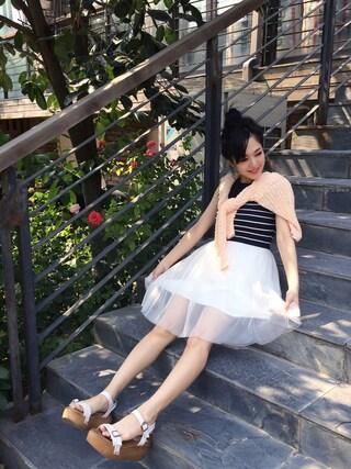 蒼井そら/SOLA AOI/苍井空さんの「チュールスカート」を使ったコーディネート