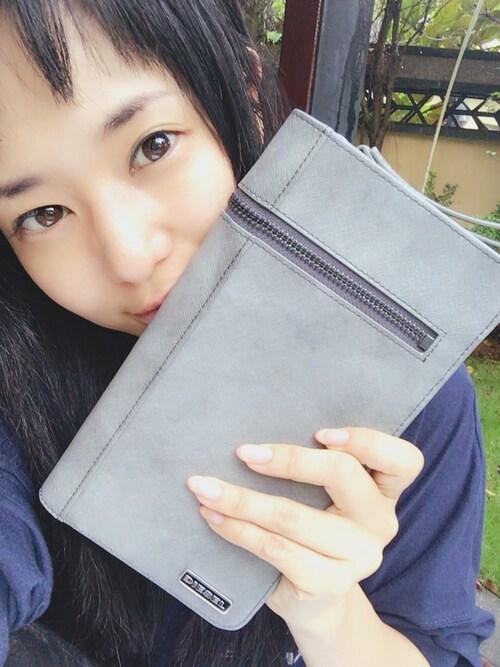 蒼井そら/SOLA AOI/苍井空さんの「STAINLESS PASS TRIP - passport case(DIESEL)」を使ったコーディネート