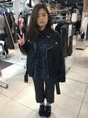 「Topshop 'Ronnie' Faux Leather Biker Jacket(Topshop)」 using this Casta Kao looks