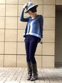 「Never Again Cardi(Free People)」 using this ワニコ looks