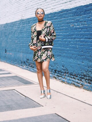「ASOS Formal Jacquard Mini Skirt Co-ord(Asos)」 using this Nia Alleyne looks