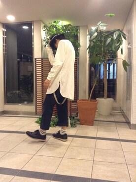 最近理解されへん梅原ファッションさんの「ビーミング by ビームス / ガーメントダイバンドカラーシャツ(B:MING LIFE STORE by BEAMS)」を使ったコーディネート