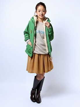 FREAK'S STORE HEAD OFFICE WOMEN│FREAK'S STOREのマウンテンパーカーコーディネート