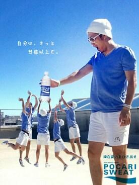 HIROさんの「【CHAMPION】デカロゴワッチキャップ(Champion)」を使ったコーディネート