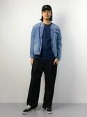 ryuto irieさんの「インディゴドット ポケTee#(JOURNAL STANDARD|ジャーナルスタンダード)」を使ったコーディネート