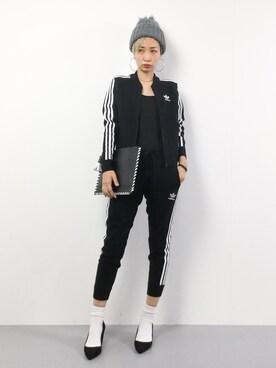 ZOZOTOWN|yucoさんの「【adicolor】ウール ジャージ[SST TRACK TOP WOOL](adidas)」を使ったコーディネート