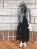 「FOREVER 21 Faux Leather Moto Jacket(Forever 21)」 using this masa-mi looks