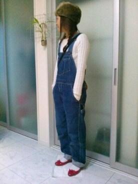 Atsu さんの「WOMEN コットンカシミヤケーブルクルーネックセーター(長袖)(ユニクロ)」を使ったコーディネート
