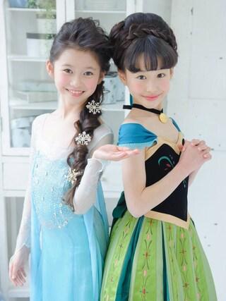 スノーイン大須キモノガールさんの「アナドレス エルサドレス」を使ったコーディネート