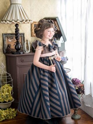 スノーイン大須キモノガールさんの「7歳ドレス」を使ったコーディネート