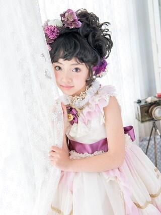スノーイン大須キモノガールさんの「七五三ドレス」を使ったコーディネート