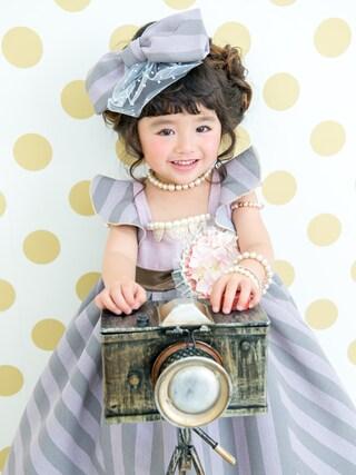 スノーイン大須キモノガールさんの「三歳ドレス」を使ったコーディネート