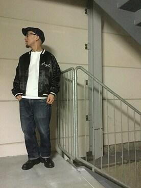 Schott TOKYO-BAY|senさんの「Schott/ショット/HENLEY NECK TSHIRT/ヘンリーネック Tシャツ(schott)」を使ったコーディネート