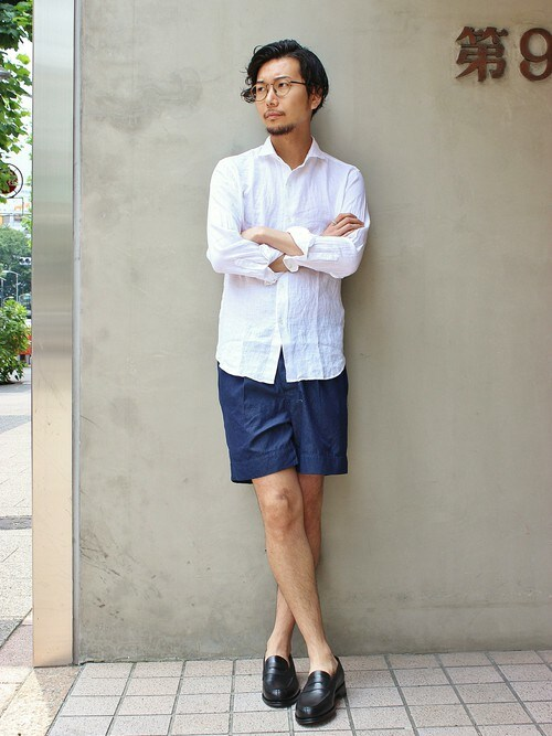 EDIFICE TOKYO 渋谷店 | EDIFICE TOKYO店スタッフ2さんのシャツ・ブラウス「EDIFICE LINENシャンブレーカッタウェイシャツ」を使ったコーディネート