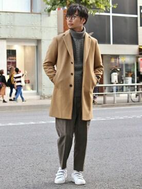 EDIFICE TOKYO 渋谷店|EDIFICE TOKYO店スタッフ2さんの「◇100Sアヤメルトンチェスターコート(EDIFICE)」を使ったコーディネート