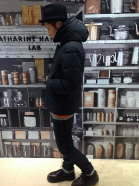 noro│KATHARINE HAMNETT LONDON のダウンジャケット/コートコーディネート